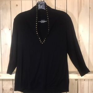 Grace black blouse large